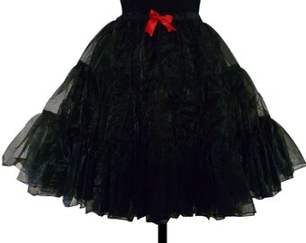 Petticoat, Crinoline, Underskirt,Fluffy Petticoat, Available in Black, Red or White, All Sizes, ROOBY LAnE