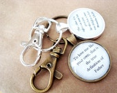 CUSTOM quote key chain, key chain with your quote, silver or vintage brass, choice of lobster claw or without, custom key chain
