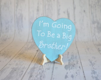 Baby/Birth Announcement/Gender Reveal/Girl's Photography Prop-I'm Going To Be a Big Brother!-Your Choice of Colors-Ships Quickly
