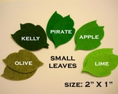 50pcs Green Day Small Leaves - Green MIX