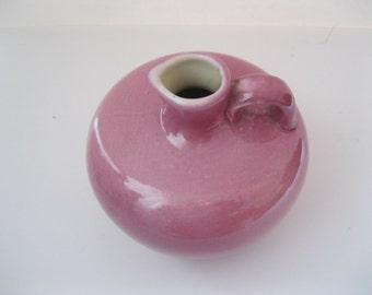 C.S. Taylor Pottery Honey Syrup Jug  High Gloss Pink Made in USA - FL