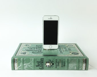 SALE - Ready to ship - American Gods booksi Dock for iPhone or Android - Neil Gaiman