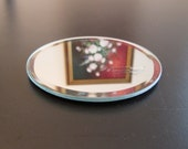 Beveled Mirror, 4 inch Round, Glass, Coaster, Jewelry Display, Craft Project