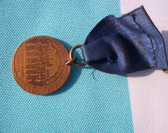 Vintage 1940's Illinois School Band Association State Band Contest  Award or Medal Steampunk?