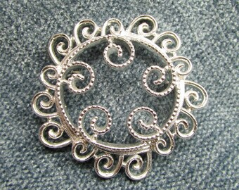 Fanciful Filigree: Vintage Sarah Coventry© Openwork Swirl Brooch