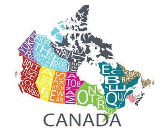 Typographic Map of Canada