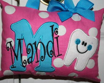 Tooth Fairy Pillow for Girls - Personalized - Tooth Chart Option