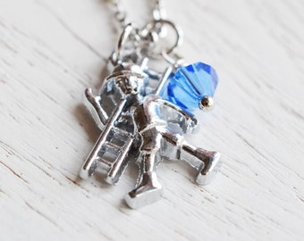 lineman necklace, construction worker, support, love my lineman jewelry, builder birthday gift, construction worker necklace, charm necklace