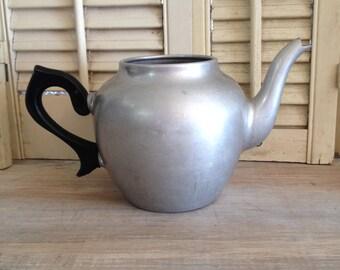 Tea Pot Metal Tea Pot Primitive Pot Shabby Chic Tea Pot