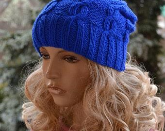 Sapphire beani cap / hat