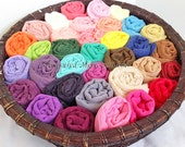 Newborn Cheesecloth Photo Prop - Cotton Cheese cloth Wrap - Set of 5 , Over 100 Colors - Maternity Photo Prop Baby Shower Gift