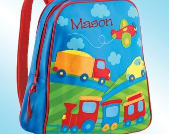 Backpack - Personalized and Embroidered - Go Go Bag - TRANSPORTATION