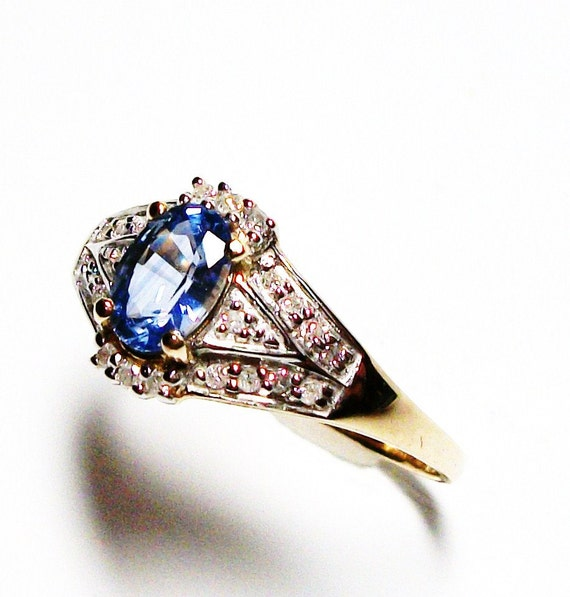 "Reserved for Colton - Blue sapphire ring, blue sapphire, engagement ring, blue, blue jewelry,   s 9    ""Summer Romance"""