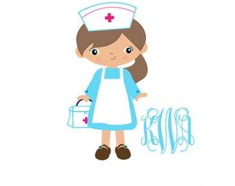 "Custom Personalized Car Window Nurse Decal Sticker Nursing Car Decal Any Color Monogram 5"" Wide"