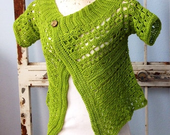 Crochet Pattern PDF Emmeline Cardi Shrug  Instant Download Sizes XS-3X  Women or Teens Brides Weddings Bolero Sweater