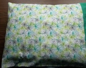 Standard Pillow case in Starburst  pattern  made with 100% cotton Flannel Greens, Greys and white
