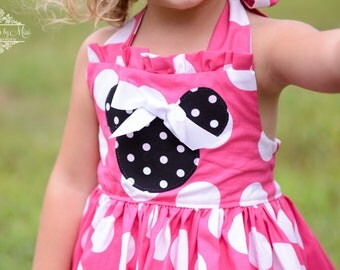 IN STOCK Minnie Mouse Girls Birthday Party Dress