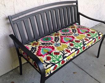 Bench Cushion Window Seat in Santa Maria Desert Flower