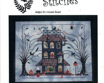Prijzenswaardig steken: Zwarte kat Manor - Cross Stitch patroon