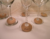 Wine Glass Charms, 30 DIY Wine Glass Labels, Eco Friendly, Kraft , Party Supplies, Disposable, DIY Wedding, Holiday Entertaining, Blank
