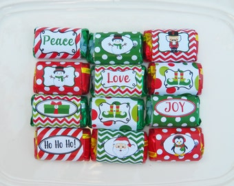 Christmas Mini Candy Wrappers Printable