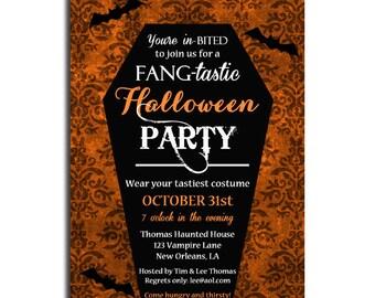 Halloween Invitation Printable - Vampire Halloween