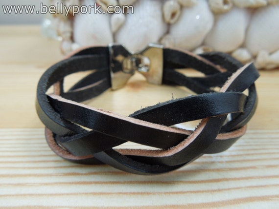 Black bracelet,black cuff, braided bracelet,braided cuff,black braided cuff,black leather cuff,braided black leather,mens bracelet,mens cuff