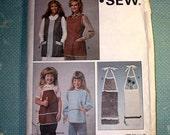 Vintage Kwik Sew Aprons Pattern 1215