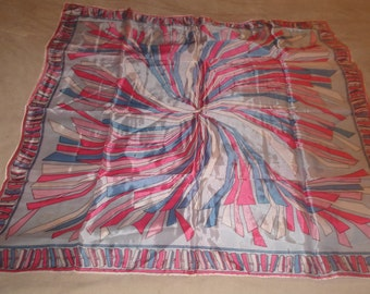 vintage ladies head neck scarf colorful fireworks