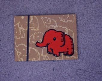 elephant sketchbook, kids sketchbook, elephant notebook,