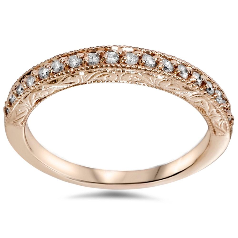 1 2 cttw diamond womens anniversary vintage ring antique hand. Black Bedroom Furniture Sets. Home Design Ideas