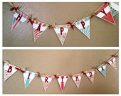 Vintage Circus Happy Birthday Party Pennant Banner