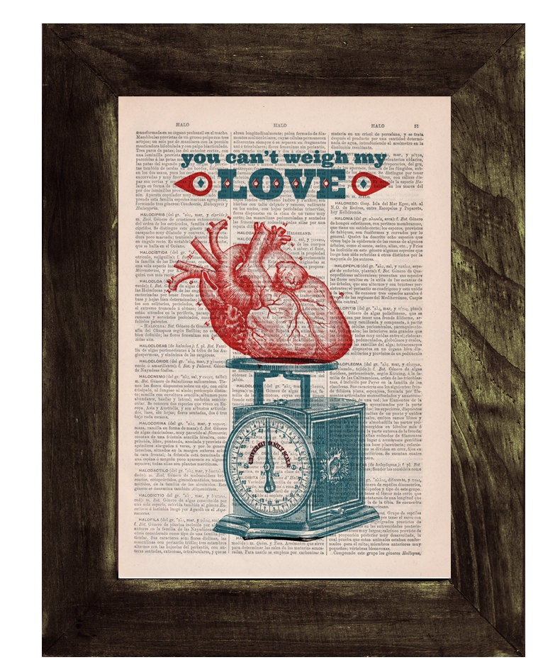 Red Love Wall Decor : You cant weigh my love wall decor poster print red