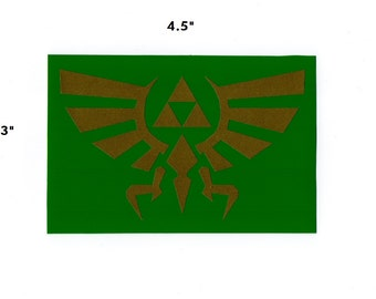 Hyrule Triforce sticker - legend of zelda link decal geek gift
