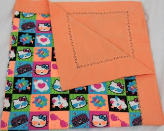 Hello Kitty 100 percent cotton soft flannel Baby Receiving Blanket is Ready to ship