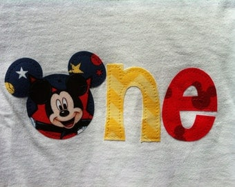 Mickey Mouse First Birthday Shirt, Disney First Birthday Shirt, Mickey Mouse One Shirt