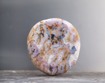 Light WINGATE PASS, Death Valley PLUME Agate Cab / Gemstone Cabochon. One of a kind gem...