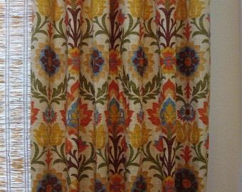 Custom Window Curtain Panels Waverly Santa Maria Unlined Drapes 50x84