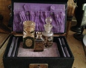 Antique Vintage Purple Jewelry Keepsake Box