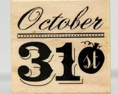 Pumpkin Oct 31 Stamp NEW October fancy font Fall Carnival NEW Mounted Rubber Cards Scrapbooking Invitations Pinterest Craft Crafts Holiday