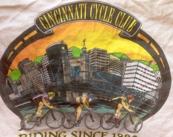 Vintage Cincinnati Cycle Club t shirt