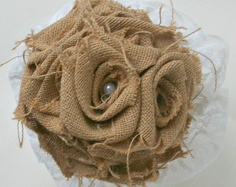Bridal Bouquet, Burlap Bouquet, Rustic Bridal Bouquet, Rustic Wedding Bouquet