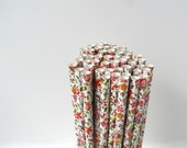 Floral Paper Straws Flower paper straws Flower Wedding Straws Shower straws Birthday straws Flower Party Straws