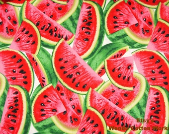 Watermelon - Cotton Fabric  - Timeless Treasures  - Fat Quarter - more for one cut - B8B10