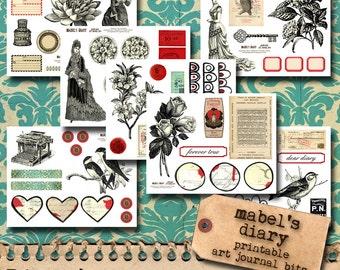 Mabel's Diary - Vintage Art Journal Printables