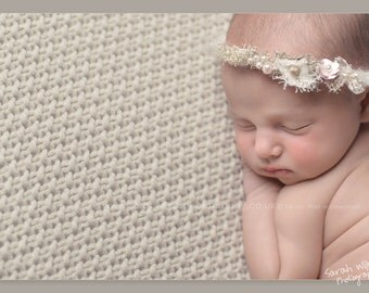 Newborn Flower Headband. Newborn Headband. Woodland Flower Halo. Newborn Flower Halo. New Born Photography Prop.UK SELLER