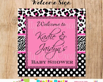 PINK BLACK DIVA welcome sign - You Print