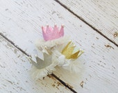 baby crown headband- gold baby crown headband - headband- princess crown- infant crown headband - newborn crown- gold crown- crown hair clip