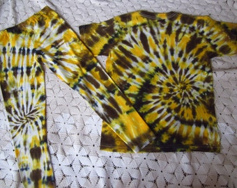 Tie dye youth large shirt and pants- giraffe, leopard, calico cat, cheetah- INSTANT HALLOWEEN COSTUME, 450