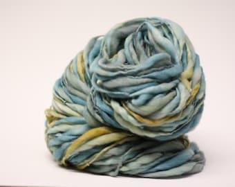 Thick Thin Merino Yarn Handspun Wool tts (tm) Hand Dyed Yarn LR 30c